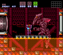Super Metroid Norfair Ancient Ruins Area Kenji
